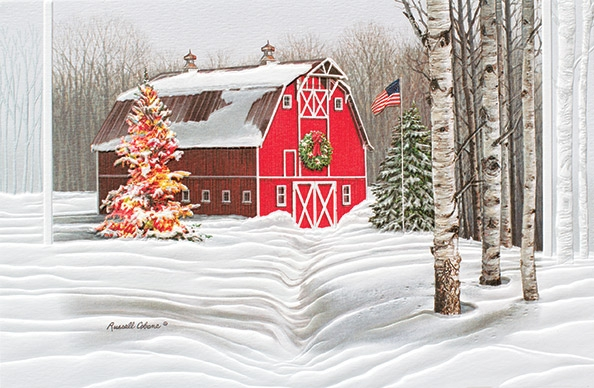 """Boxed Christmas Cards - """"Crisp Winter Day"""""""