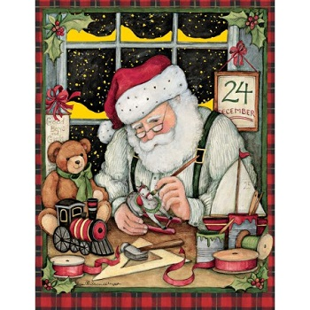 "Boxed Christmas Cards - ""Santa's Workshop"""