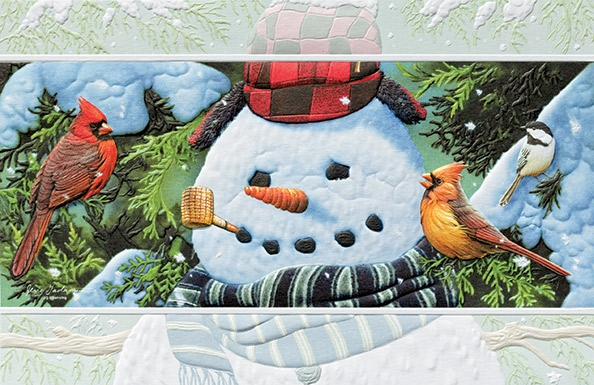 "Boxed Christmas Cards - ""Songbird Snowman"""