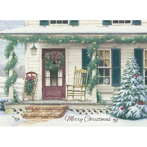 "Boxed Christmas Cards - ""Waiting For Christmas"""