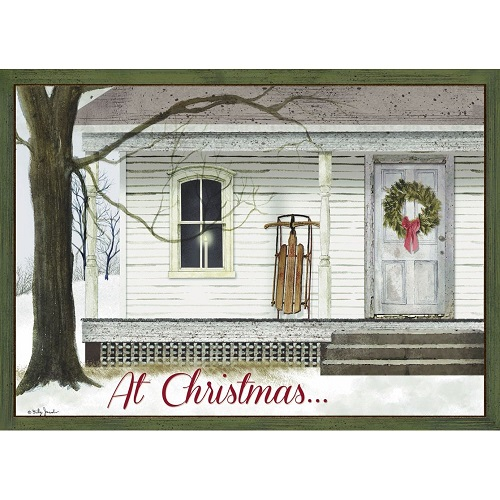 "Boxed Christmas Cards - ""Winter Porch"""