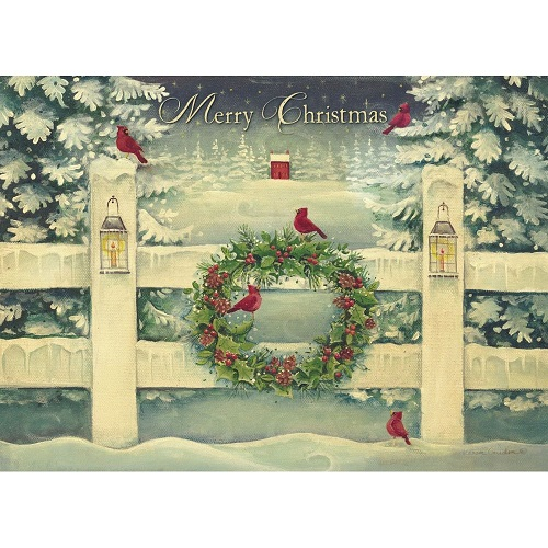 "Boxed Christmas Cards - ""Winter Wreath"""