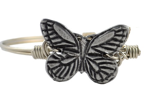 "Bracelet - ""Luca + Danni Butterfly Bangle - Silver"""