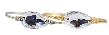 "Bracelet - ""Luca + Danni Crystal Bauble Bangle - Brass"""