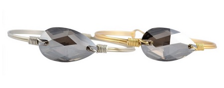 "Bracelet - ""Luca + Danni Crystal Satin Bauble Bangle - Brass"""