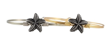 "Bracelet - ""Luca + Danni Starfish Bangle - Silver"""