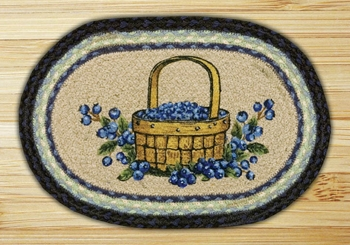 "Braided Miniature Oval - 10"" x 15"" - ""Blueberry Basket"""