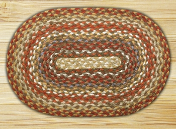 "Braided Miniature Oval - 10"" x 15"" - ""Honey/Vanilla/Ginger"""