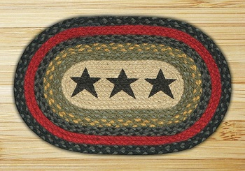 "Braided Miniature Oval - 10"" x 15"" - ""Stars"""