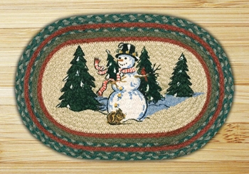 "Braided Miniature Oval Trivet - 10"" x 15"" - ""Winter Wonderland"""