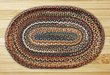 "Braided Oval Rug"" - 20"" x 30"" - ""Multi Color"""