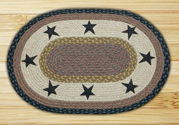 "Braided Placemat - ""Stars Oval Placemat"" - 13"" x 19"""