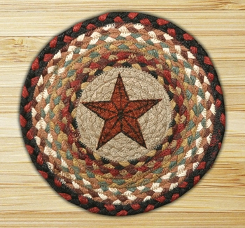 "Braided Round Trivet - 10"" Round - "" Barn Star"