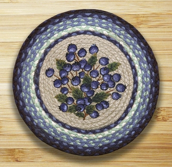 Earth Rug - Braided Round Trivet - Blueberry - 10in