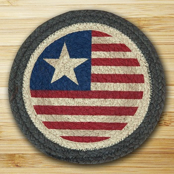 "Braided Round Trivet - 10"" Round - "" Original Flag"