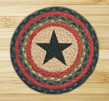 "Braided Round Trivet - 10"" Round - ""  Star"