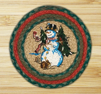 "Braided Round Trivet - 10"" - ""Winter Wonderland"""