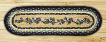 "Braided Stair Tread - ""Blueberry""  - 27"" x 8.25"""