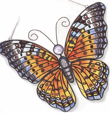 "Butterfly Suncatcher - ""Orange Swallowtail  Window Panel Suncatcher"""
