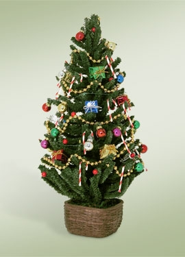 Byers Choice Accessory - Decorated Tree With Lights 2010