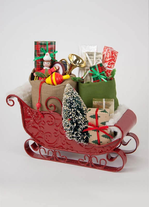 Byers Choice Caroler Accessory - Sleigh filled with Toys 2017