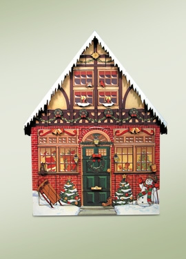 "Byers Choice Advent Calendar - ""Christmas House Advent Calendar"""