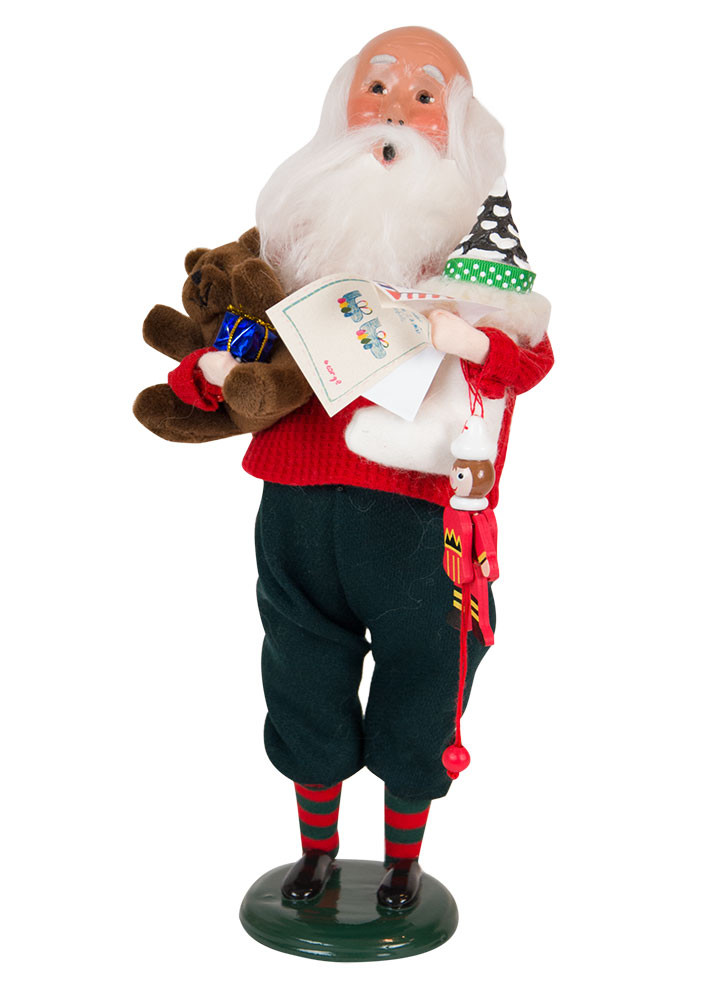 Byers Choice Caroler - Bald Santa with Letters 2018