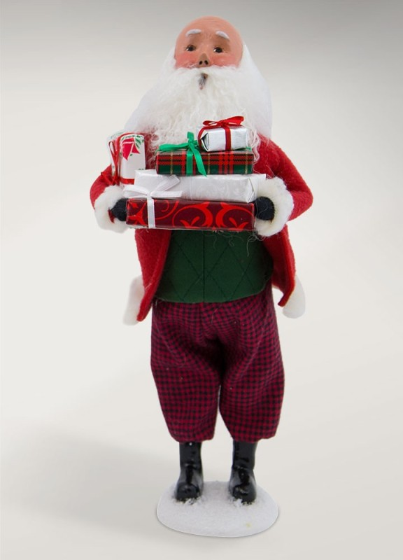 Byers Choice Caroler - Bald Santa with Packages 2017