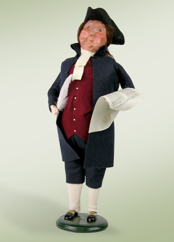 Byers Choice Caroler - Ben Franklin with Quill 2018