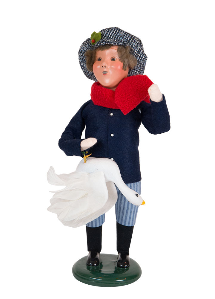Byers Choice Caroler - Boy with Goose 2018