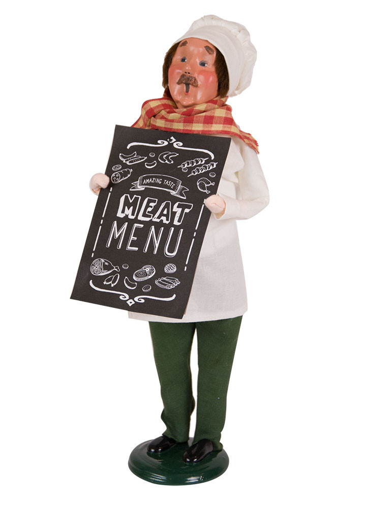 Byers Choice Caroler - Butcher with Chalkboard 2018
