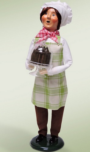 "Byers Choice Caroler - ""Chef with Chocolate Cake"" - 2016"