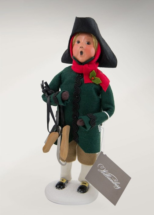 """Byers Choice Caroler - """"Colonial Boy with Skates"""" 2017"""