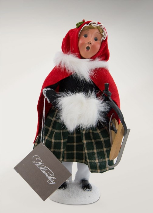 Byers Choice Caroler - Colonial Girl with Skates 2017