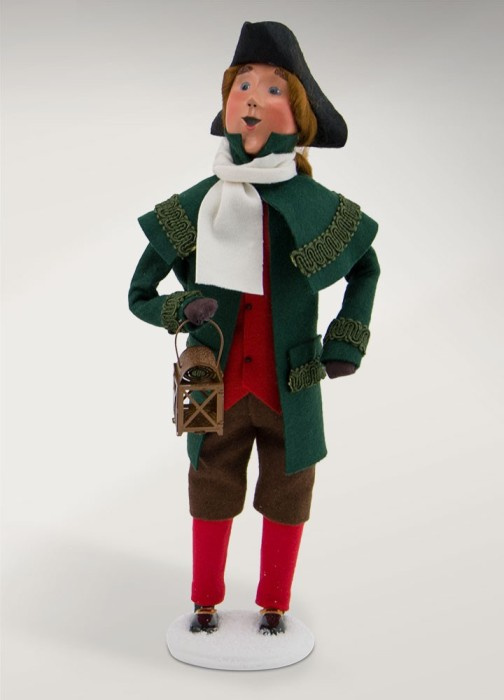 Byers Choice Caroler - Colonial Man with Lantern 2017