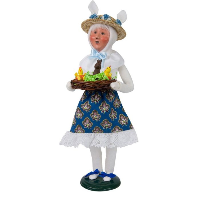 Byers Choice Caroler - Easter Bunny Woman 2018