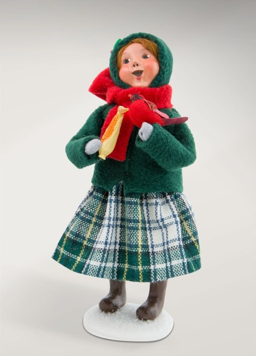 """Byers Choice Caroler - """"Family with Cardinals Girl"""" 2017"""