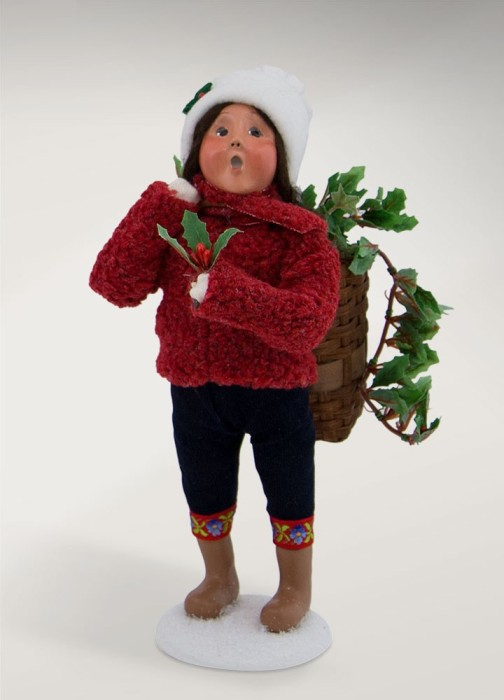"""Byers Choice Caroler - """"Girl with Greens"""" 2017"""