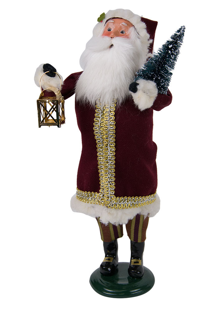 Byers Choice Caroler - Maroon Santa 2018