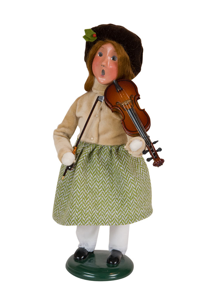 """Byers Choice Caroler - """"Musical Girl with Violin"""" 2018"""
