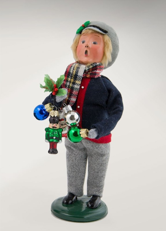"Byers Choice Caroler - ""Ornament Boy"" 2017"