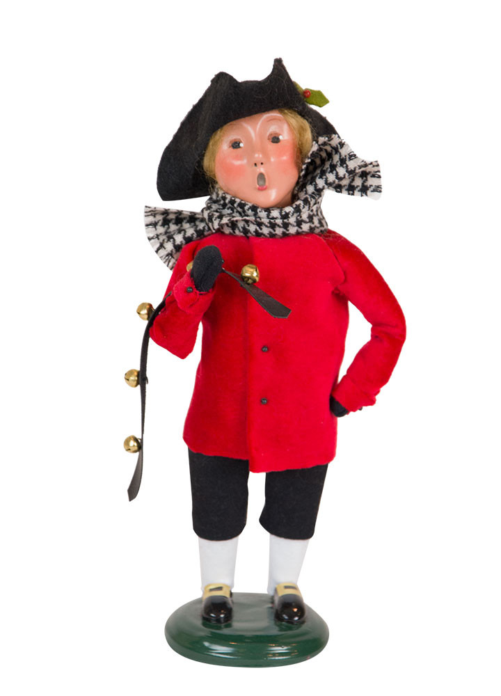 "Byers Choice Caroler - ""Red & Black Colonial Boy"" 2018"