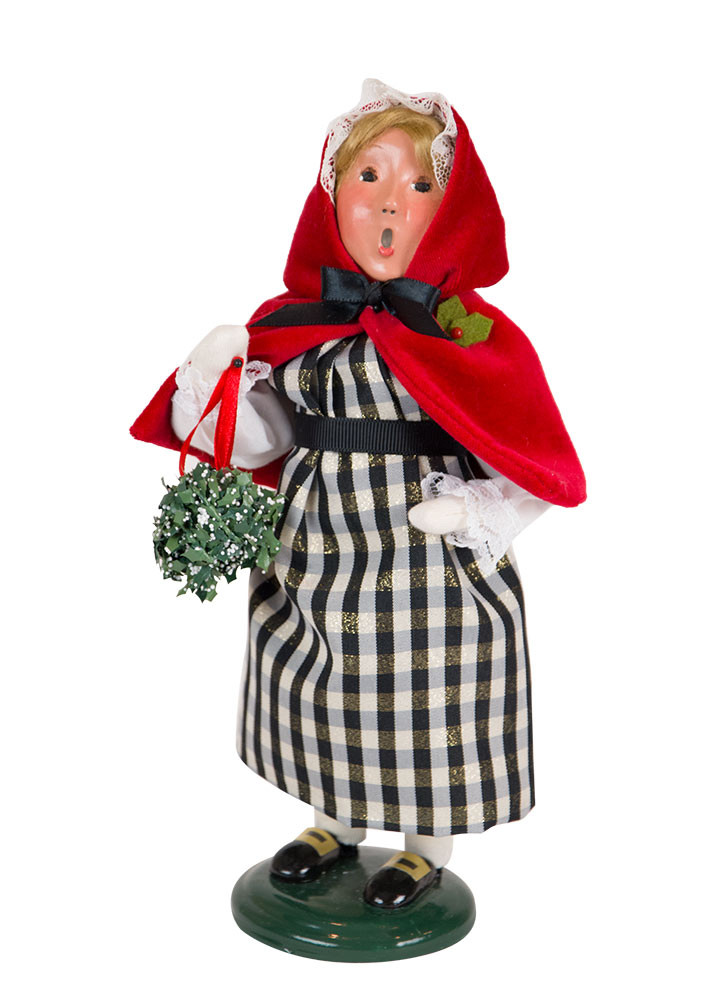 "Byers Choice Caroler - ""Red & Black Colonial Girl"" 2018"