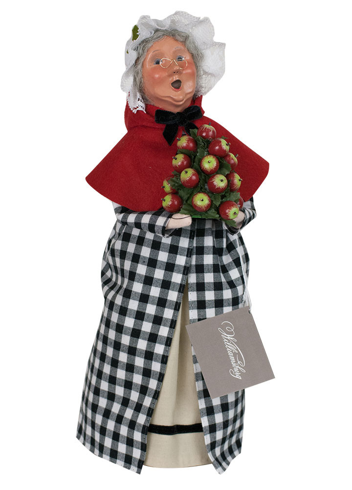 "Byers Choice Caroler - ""Red & Black Colonial Grandma"" 2018"