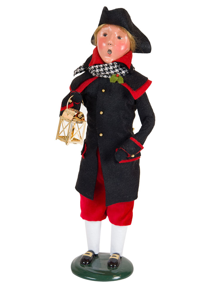 "Byers Choice Caroler - ""Red & Black Colonial Man"" 2018"