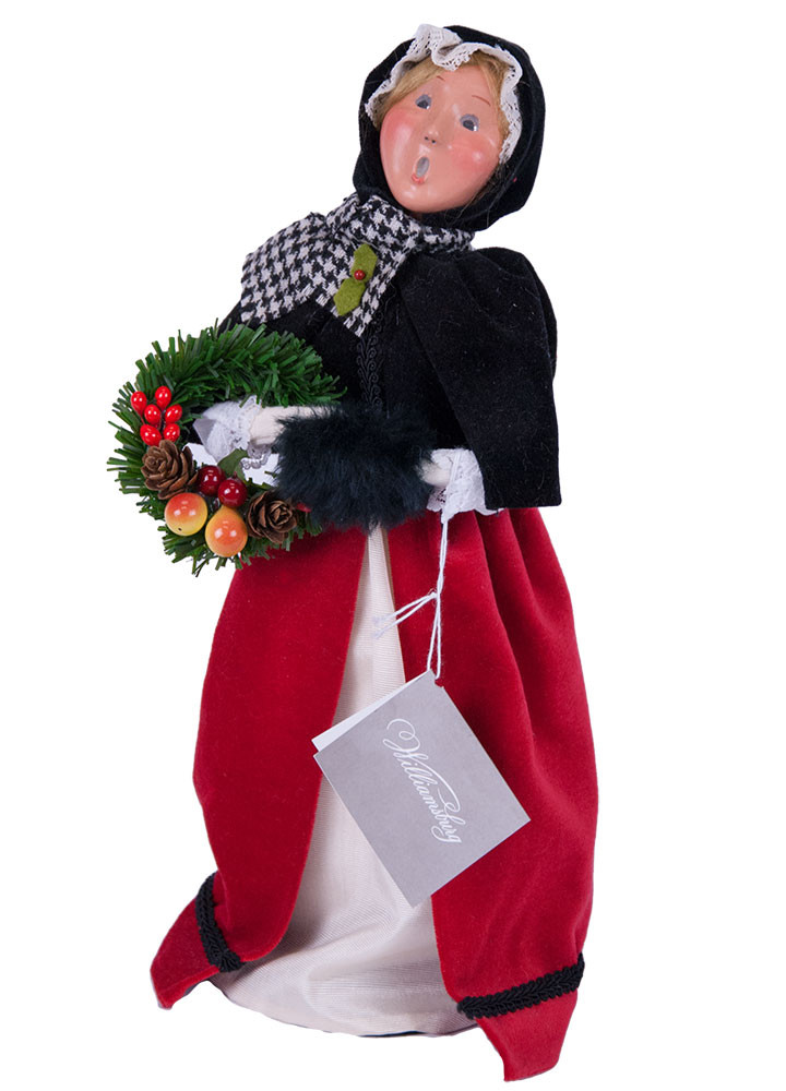 Byers Choice Caroler - Red & Black Colonial Woman 2018
