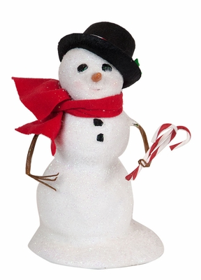 Byers Choice Caroler - Small Snowman with Black Hat 2018