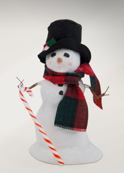 "Byers Choice Caroler - ""Small Snowman with Candy Cane"" 2017"