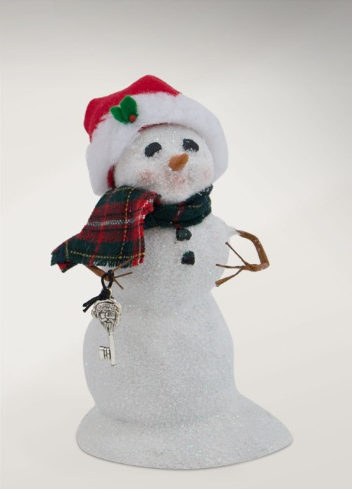 "Byers Choice Caroler - ""Small Snowman with Santa Key"" 2017"
