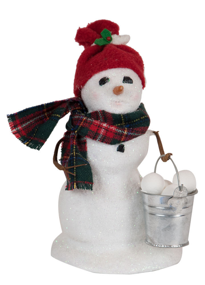 "Byers Choice Caroler - ""Small Snowman with Snowballs"" 2018"